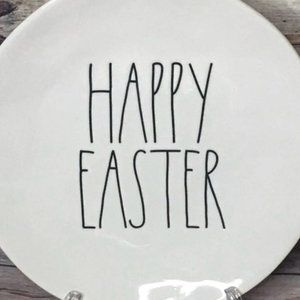RAE DUNN HAPPY EASTER large plate BRAND NEW